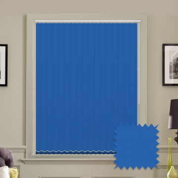 "Made to Measure Blackout 5"" Unishade Cyan Vertical Blind"